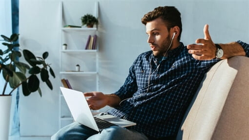 PErson on video call in Online Therapy and counseling session in South Africa